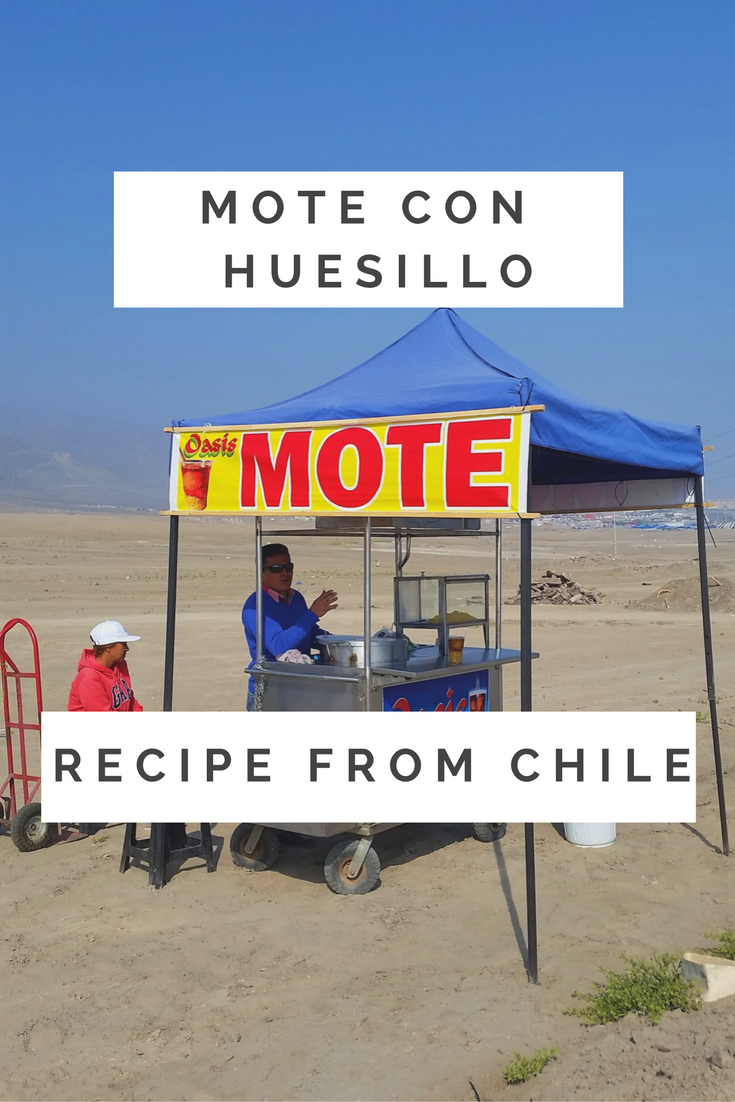 mote con huesillo, Chilean drink