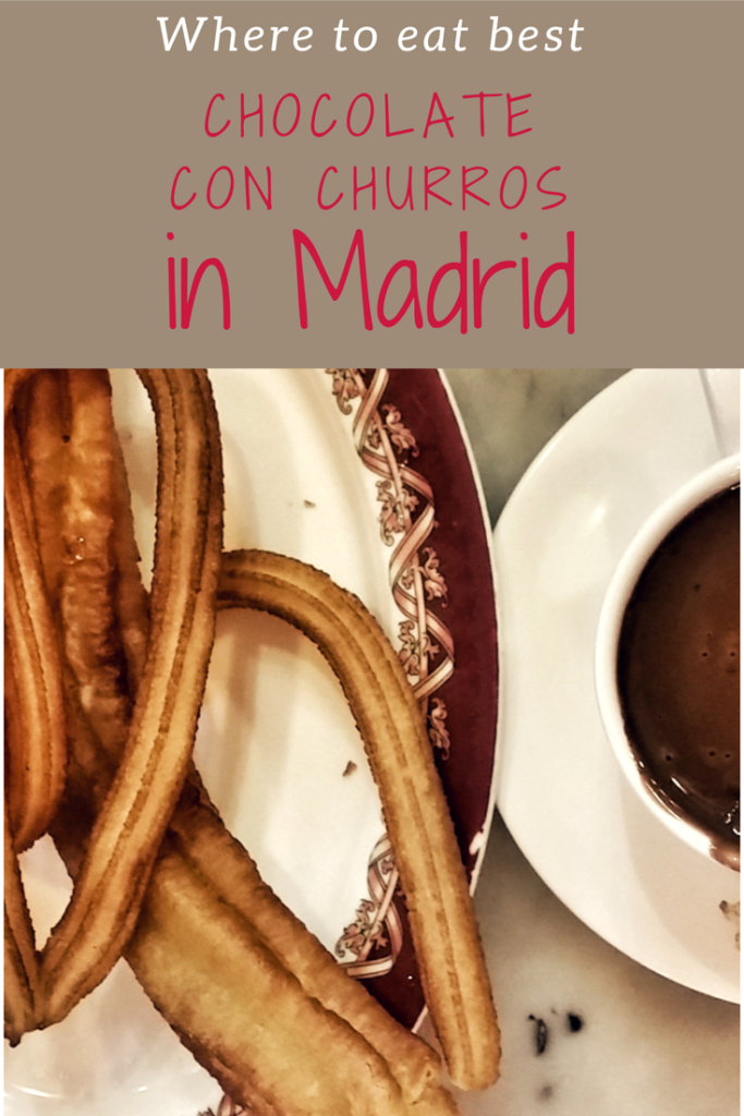 where to eat best chocolate con churros, Madrid