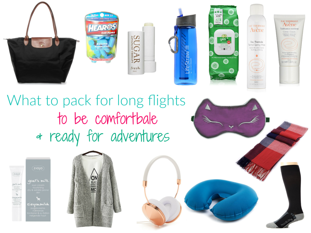 What to pack for long flights